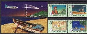 Anguilla (1986) #669-72, 673 MNH