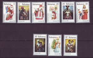 J24196 JLstamps 1981 bahamas set mnh #504a-i christmas