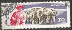 MONGOLIA, 1961, CTO 30m, Rams Scott 245