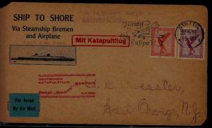 Germany Catapult card 6.6.30 Stettin, faults