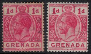 Grenada #80 used, #80a*  CV $12.35
