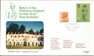 Return Of Victorious England Cricket Team From Australia Tour Cover 1987 U1337