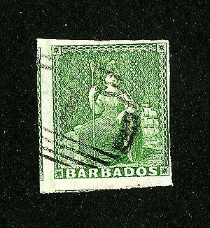 Barbados Stamps # 5 Superb Large Copy Used Scott Value $230.00