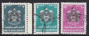 UNITED ARAB EMIRATES ^^^^^KEYS  sc#102-104    cat   $37.00@ dc517uar