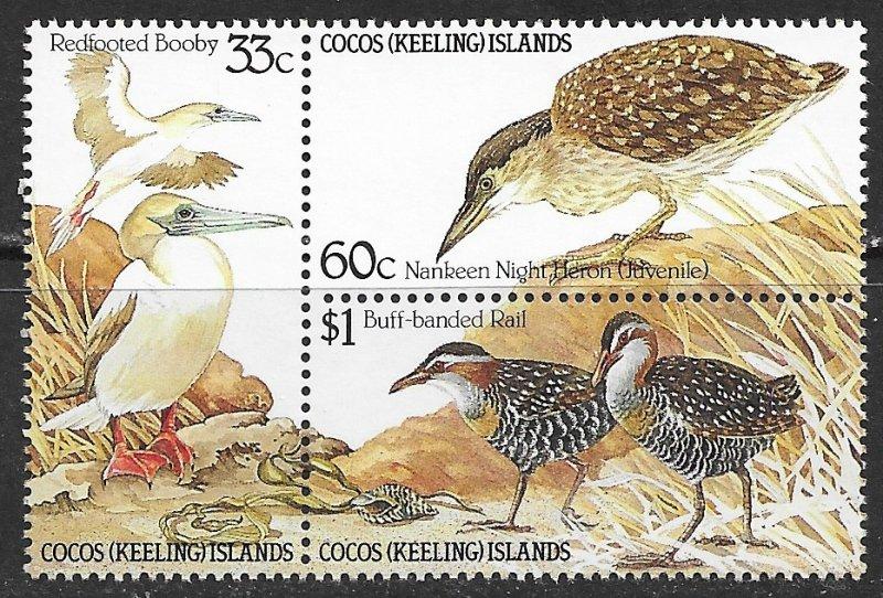 Cocos Islands ~ Scott # 134a ~ MNH ~ Birds