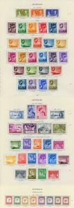 Collection of Seychelles KGVI on leaves cat 676.80 pounds