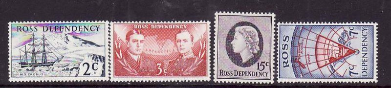 Ross Dependency-Sc#L5-8- id5-unused hinged set-Ships,Maps-1967-