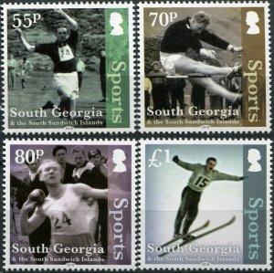 SGSSI. 2016. Sports (MNH OG) Set of 4 stamps
