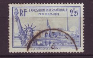 J20132 jlstamps 1939-40 france used #372 statue liberty