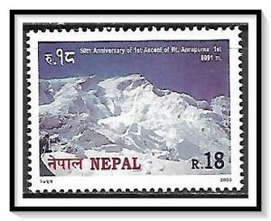 Nepal #672 First Ascent of Annapurna MNH