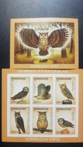 O) 2001 AZERBAIJAN, PROOF, OWLS .ASIO FLAMMEUS -STRIX ALUCIO - OTUS SCOPS - ASIO