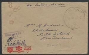 SOLOMON IS 1945 NZ FORCES cover RNZAF / C / NZAPO cds, censor.............11393