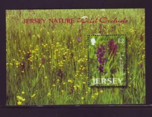 Jersey Sc 1084 2003 Wild Orchids stamp souvenir sheet mint NH