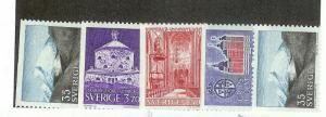 SWEDEN Sc#719-723 Complete Set Mint Never Hinged