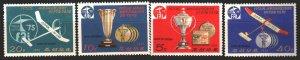 North Korea. 1976. 1551-54. Gliding sport. MNH.