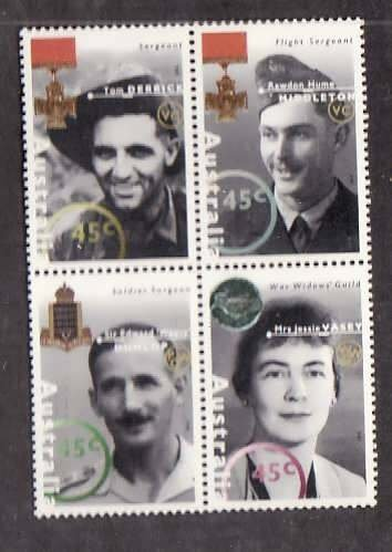 Australia-Sc#1435a- id5-unusedNH set-Military-Medals-1995-