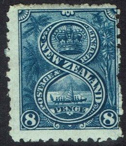 NEW ZEALAND 1902 PICTORIAL 8D WMK STAR NZ PERF 11