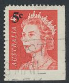 Australia  Sc# 398 from Booklet  with Surcharge positional Lower right  Used