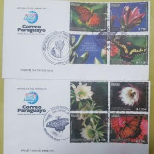 L) 2017 PARAGUAY, TUNAS AND BUTTERFLIES OF THE PARAGUAY, NATURE, FLOWERS, FDC