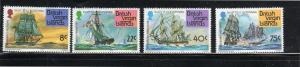 VIRGIN ISLANDS #309-312  1976  AMERICAN BICENTENNIAL        MINT VF NH O.G