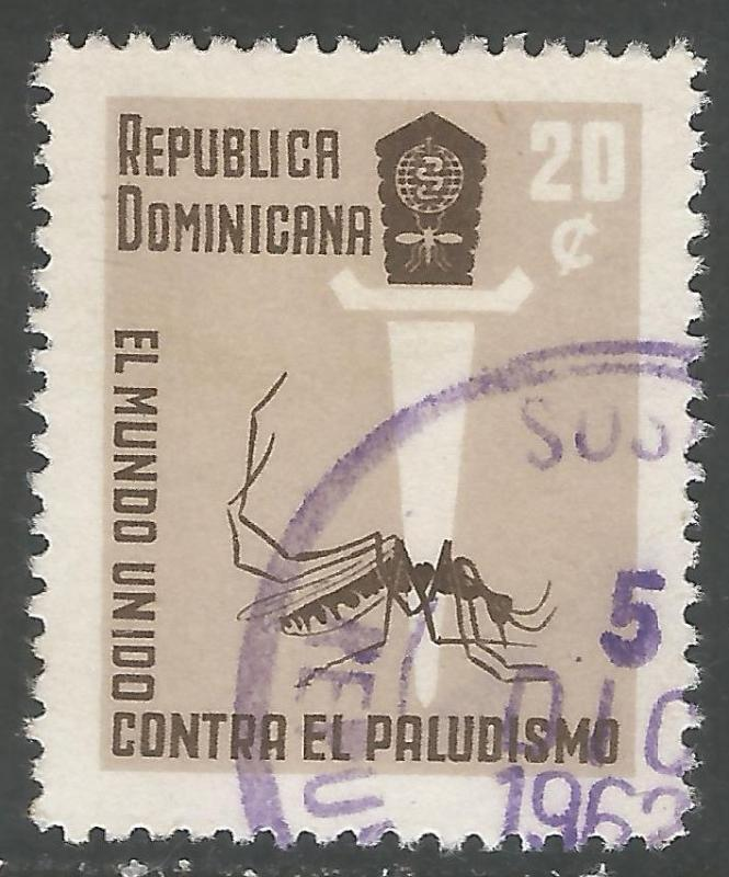 DOMINICAN REPUBLIC 559 VFU INSECT Y167-4