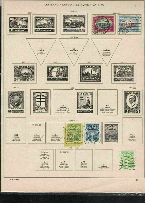 latvia stamps page ref 18177