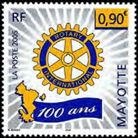 MAYOTTE 2005 - Scott# 214 Rotary Cent. Set of 1 NH