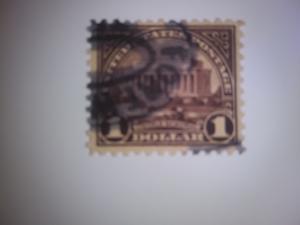 SCOTT # 571 $ 1.00 USED SINGLE DESIRABLE REGULAR ISSUE 1922