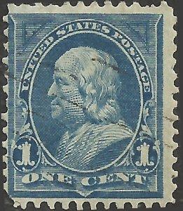 # 264 Blue Used Ben Franklin