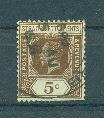 Straits Settlements sc# 187a (2) used cat value $.25