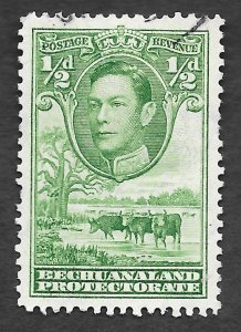 Bechuanaland Protectorate Scott #124 1/2p George VI Cattle (1938) Used