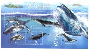 SOLOMON ISLANDS 2012 WHALES Souvenir Sheet Sc 1179 MNH