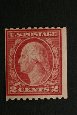 United States #488 2 Cent Coil Carmine Red Type II 1916