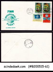 UNITED NATIONS - 1984 TWA INAUGURAL FLIGHT NEW YORK to BRUSSELS - 4V - FFC