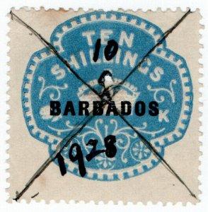 (I.B) Barbados Revenue : Duty Stamp 10/- (1916)