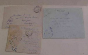 PALESTINE  1941 FPO 445 TO AUSTRALIA HILL 95 & REHOVAT 1941 FPO 165 TO INDIA
