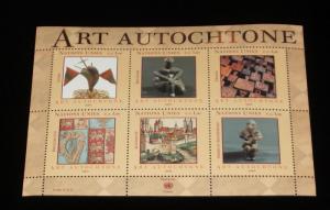 U.N.GENEVA #422, 2004, INDIGENOUS ART, SOUVENIR SHEET, MNH,NICE! LQQK!