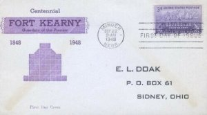 970 3c FORT KEARNY - Unlisted E. L. Doak