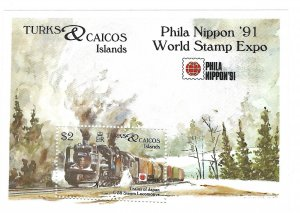 Turks and Caicos Islands 952   SS  Mint NH VF 1991  PD