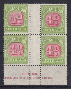 PDA53) 1931-37 C of A wmk perf 11 4d Red & yellowish green N over N Ash imprint