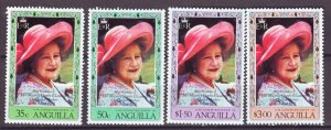 J22366 Jlstamps 1980 anguilla set mnh #394-7 queen mom
