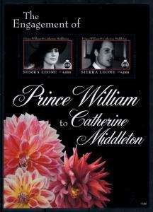 [76516] Sierra Leone 2011 Royal Engagement Prince William & Kate Sheet MNH