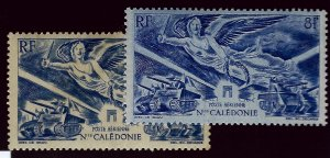 New Caledonia C14 Mint 2 shades OG F-VF...French Colonies are Hot!