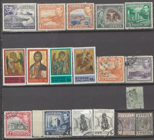 COLLECTION LOT # 3148 CYPRUS 18 STAMPS 1894+ CV+$14