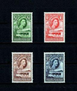 BECHUANALAND - 1955 - QE II - CATTLE & BAOBAB TREE - 4 X MINT - MNH SINGLES!