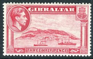 GIBRALTAR-1938-51 1½d Carmine Perf 13½.  An unmounted mint example Sg 123a
