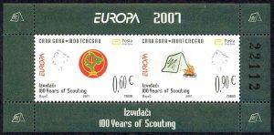 Montenegro Sc# 159 MNH Souvenir Sheet 2007 Europa