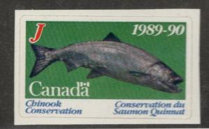 1989-90 Canada  British Columbia Chinook Conservation Stamp