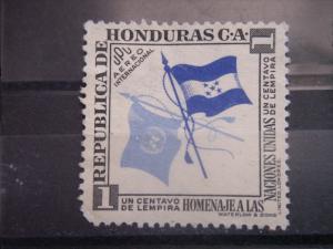 HONDURAS, 1953, used 1c UPU, Flags Scott C222