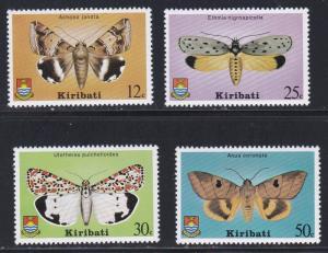 Kitibati # 356-359, Moths, NH, 1/2 Cat